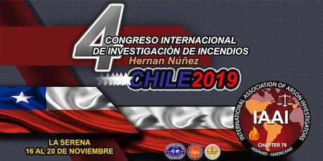 """4o Congreso Internacional de Investigación de Incendios """"Hernán Núñez"""", Cap. 79 IAAI entradas"""