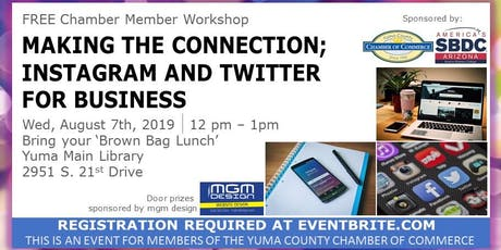 Making the connection;  Instagram and twitter  for business  tickets
