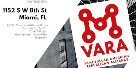 VARA- Venezuelan American Republican Alliance July Meeting tickets