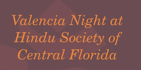 Valencia Day at the Hindu Society of Central Florida tickets