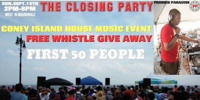 The Coney Island Boardwalk Closing Party Frankie Paradise