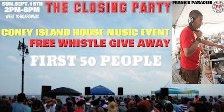 The Coney Island Boardwalk Closing Party Frankie Paradise tickets