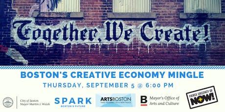 Boston's Creative Economy Mingle - Fierce Urgency of Now! tickets