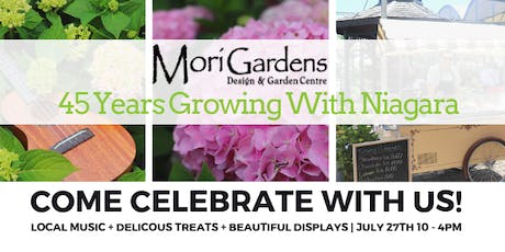 Mori Gardens 45th Anniversary Celebration tickets