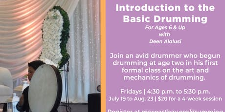 Four-Week Session: Introduction to the Basic Drumming | For Ages 6 & Up tickets