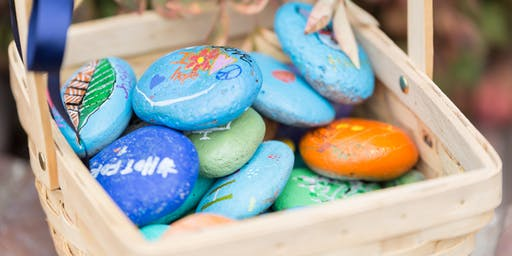 Rock Painting supporting kids who have a parent with cancer