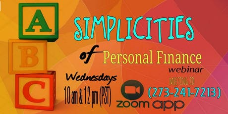 Simplicities of Personal Finance - LBC tickets