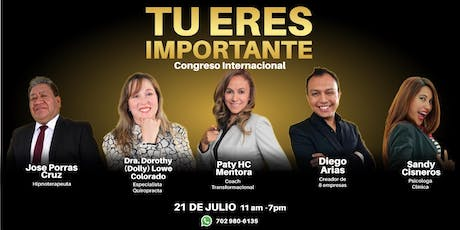 Congreso Internacional Tú eres Importante boletos