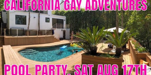 California Gay Adventures - Hollywood Hills Pool Party