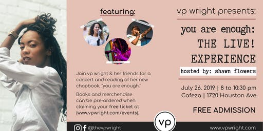 Cafeza Presents - You are Enough: The Live! Experience