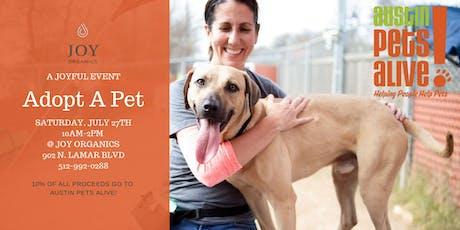 Austin Pets Alive - Adopt a Pet event at Joy Organics  tickets