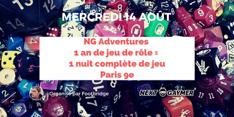 1 an de jdr : 1 nuit de jeu ! - par Footbridge tickets
