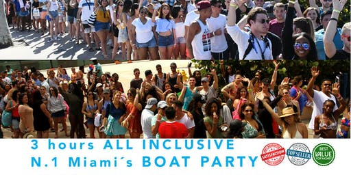 THE MOST COMPLETE BOAT PARTY PACKAGE OF MIAMI (ALL INCLUSIVE)