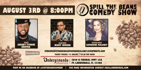 Spill the Beans Stand Up Comedy Show- Catherine Maloney (Comedy Central) tickets