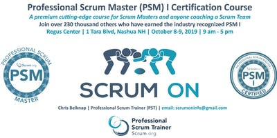 Scrum.org Professional Scrum Master (PSM) I - Nashua NH - Oct 8-9, 2019