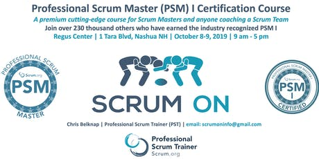 Scrum.org Professional Scrum Master (PSM) I - Nashua NH - Oct 8-9, 2019 tickets