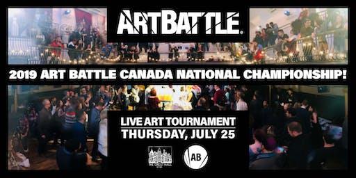 2019 Art Battle Canada National Championship! - July 25, 2019