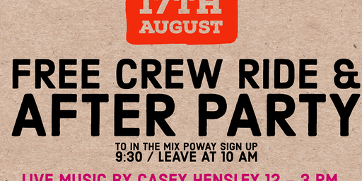 """Free Crew Ride to """"In the Mix"""" Poway"""