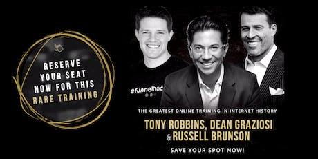 TONY ROBBINS, DEAN GRAZIOSI & RUSSELL BRUNSON (Charlotte) tickets