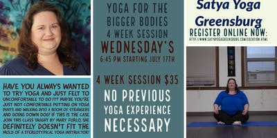 Yoga for Bigger Bodies - 4 Week Class Session