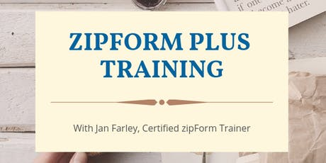 zipForms Plus Training tickets