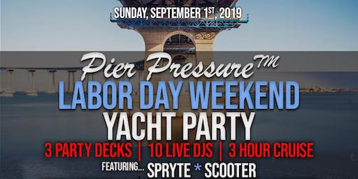 San Diego Labor Day Weekend - Pier Pressure Mega Yacht Party