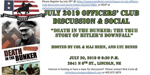 NGUAS-NE July Officers' Club Discussion and Social