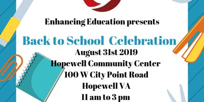 Enhancing Education Back To School Celebration