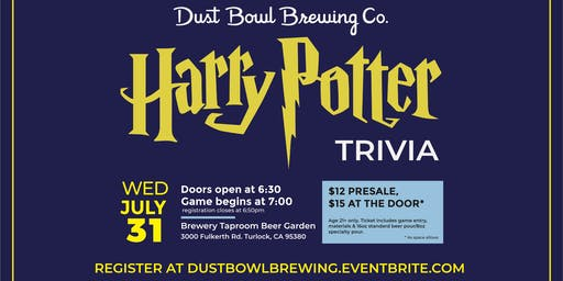 Harry Potter Trivia Night @ Dust Bowl Brewing Co.