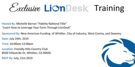 Exclusive LionDesk Training tickets
