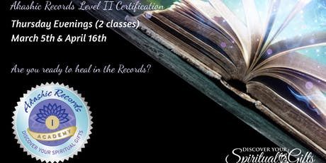 Akashic RecordReader Practitioner Level II Certification (1 of 2 classes) tickets