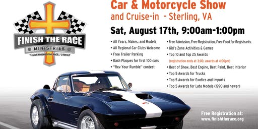 2019 Finish the Race Ministries Summer Car & Motorcycle Show