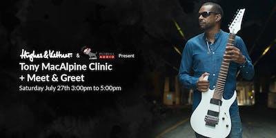 Tony MacAlpine Clinic + Meet & Greet