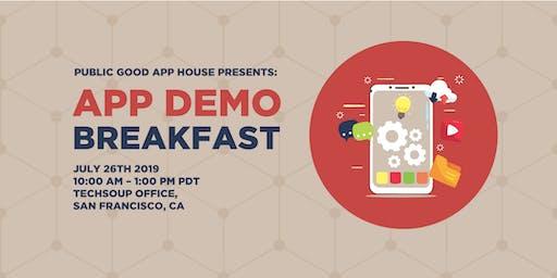 Public Good App House Demo Breakfast: San Francisco - July 2019