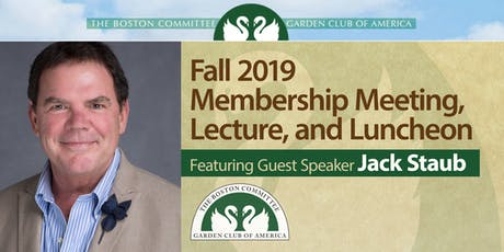 Boston Committee GCA Fall Membership Meeting, Lecture, Luncheon tickets
