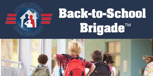 Holloman AFB Back to School Brigade Supply Distribution 2019