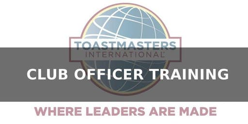 Toastmasters, District 11, Division A, Club Officer Training