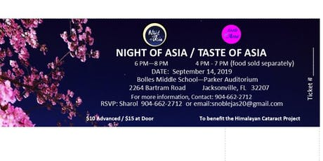 Night of Asia 2019 tickets