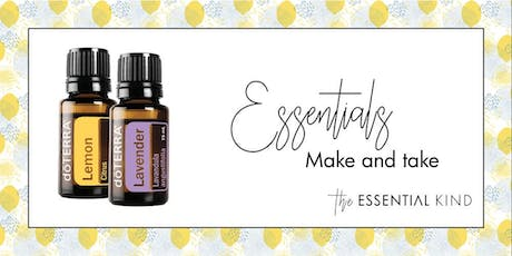 Intro to nature's solutions with doTERRA - Essentials make and take tickets