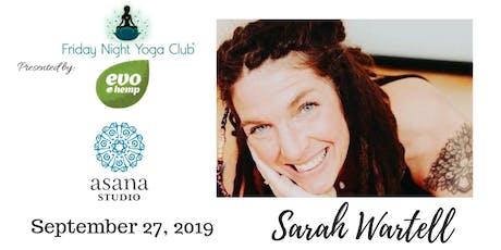 FNYC 9/27 at Asana Studio!  Sarah Wartell is Teaching!  tickets