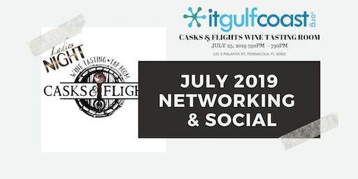 July 2019 Social & Networking Casks And Flights Wine Tasting Room