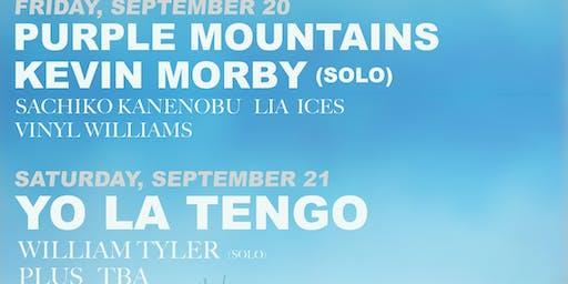 YO LA TENGO + PURPLE MNTS + KEVIN MORBY ++ 9/20-21/19 BIG SUR CAMPING WEEKEND