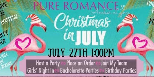 Amber's Gift-Mas in July Semi-Annual Party{Pure Romance Style}
