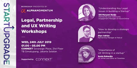 StartUpgrade :  Legal, Partnership, and UX Writing workshop tickets