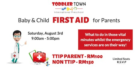 Pediatric FIRST AID Training for Parents tickets