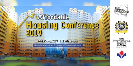 [HRDF claimable*]Affordable Housing Conference 2019  tickets