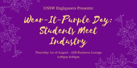 Wear-It-Purple Day: Students Meet Industry tickets
