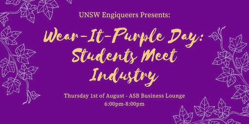 Wear-It-Purple Day: Students Meet Industry