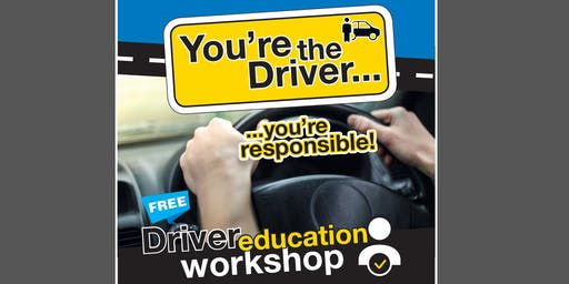 You're the Driver Workshop Day - Stanhope Gardens Aug2019