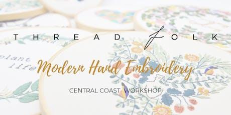 Modern Hand Embroidery Workshop tickets